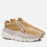 Мужские кроссовки Nike Air Footscape Woven Chukka QS Hairy Suede Pack Flat Gold фото- 1