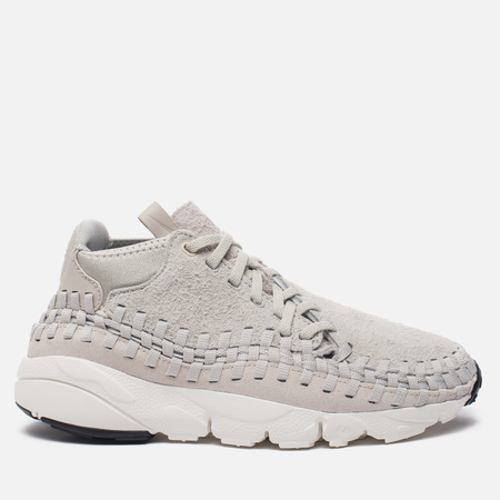 Мужские кроссовки Nike Air Footscape Woven Chukka QS Hairy Suede Pack Light Bone