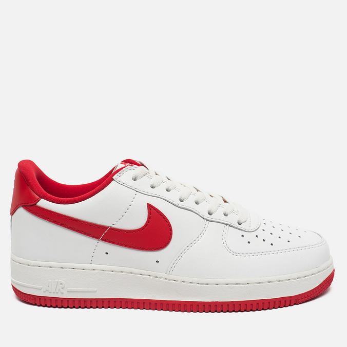 Мужские кроссовки Nike Air Force 1 Low Retro Summit White/University Red