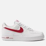 Мужские кроссовки Nike Air Force 1 '07 3 White/Gym Red фото- 0