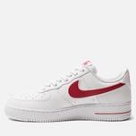Мужские кроссовки Nike Air Force 1 '07 3 White/Gym Red фото- 2