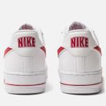 Мужские кроссовки Nike Air Force 1 '07 3 White/Gym Red фото- 3