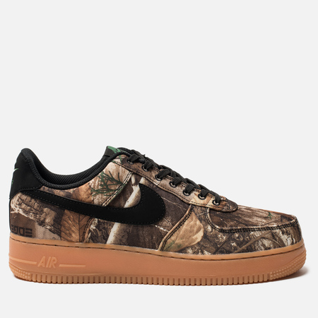 Мужские кроссовки Nike Air Force 1 '07 LV8 3 Black/Black/Aloe Verde/Gum Med Brown