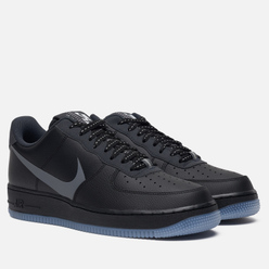 Мужские кроссовки Nike Air Force 1 '07 LV8 3 Black/Silver Lilac/Anthracite/White