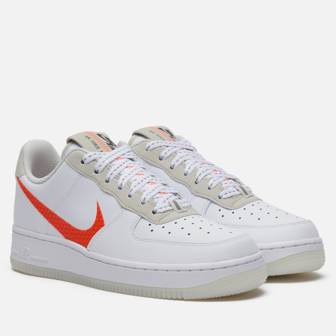 Мужские кроссовки Nike Air Force 1 '07 LV8 3 White/Total Orange/Summit White/Black