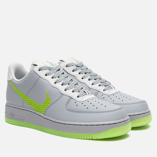 Мужские кроссовки Nike Air Force 1 '07 LV8 3 Wolf Grey/Ghost Green/Photon Dust/Black
