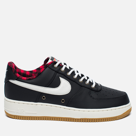 Мужские кроссовки Nike Air Force 1 '07 LV8 Black/Sail/Action Red/Gum Light Brown