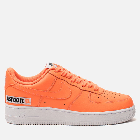 Мужские кроссовки Nike Air Force 1 '07 LV8 Just Do It Lether Total Orange/Total Orange/White/Black