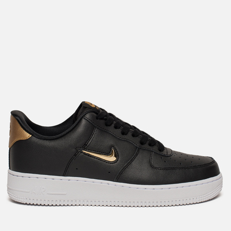 Мужские кроссовки Nike Air Force 1 '07 LV8 Leather Black/Metallic Gold/White