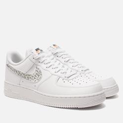 Мужские кроссовки Nike AIr Force 1 '07 LV8 LNTC Just Do It White/White/Black/Total Orange