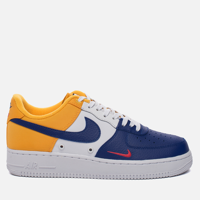 Мужские кроссовки Nike Air Force 1 '07 LV8 Mini Swoosh Collection Deep Royal Blue/University Gold