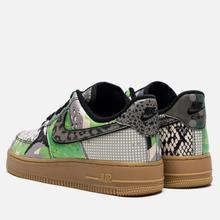 Мужские кроссовки Nike Air Force 1 07 QS Black/Black/Green Spark/Gum Light Brown фото- 2