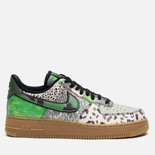 Мужские кроссовки Nike Air Force 1 07 QS Black/Black/Green Spark/Gum Light Brown фото- 3