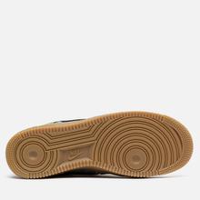 Мужские кроссовки Nike Air Force 1 07 QS Black/Black/Green Spark/Gum Light Brown фото- 4