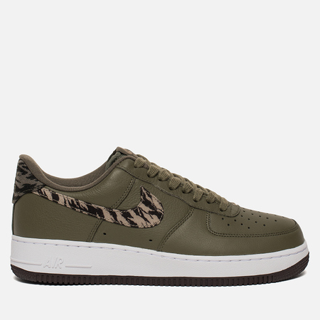 Мужские кроссовки Nike Air Force 1 AOP Premium Medium Olive/Khaki/Velvet Brown/White