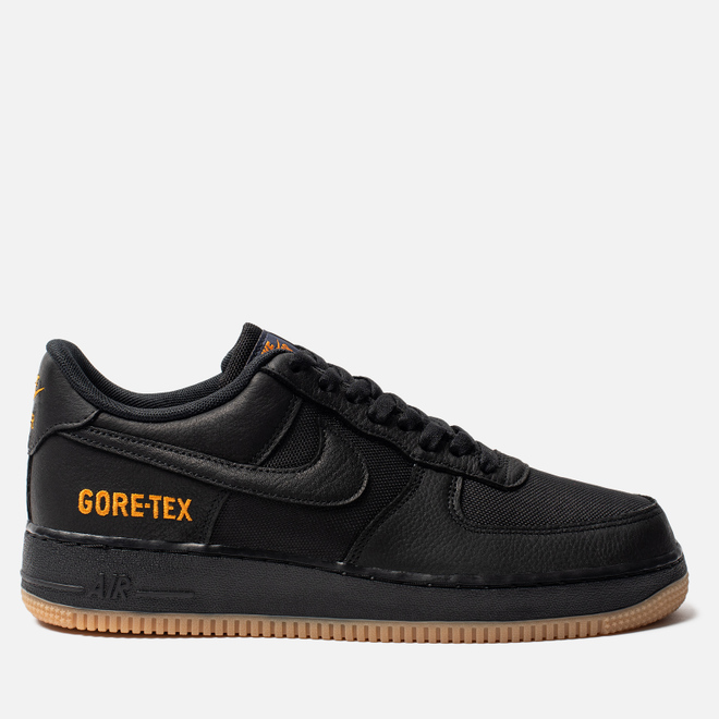 Мужские кроссовки Nike Air Force 1 Gore-Tex Black/Black/Light Carbon/Bright Ceramic