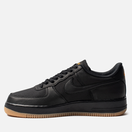 Мужские кроссовки Nike Air Force 1 Gore-Tex Black/Black/Light Carbon/Bright Ceramic