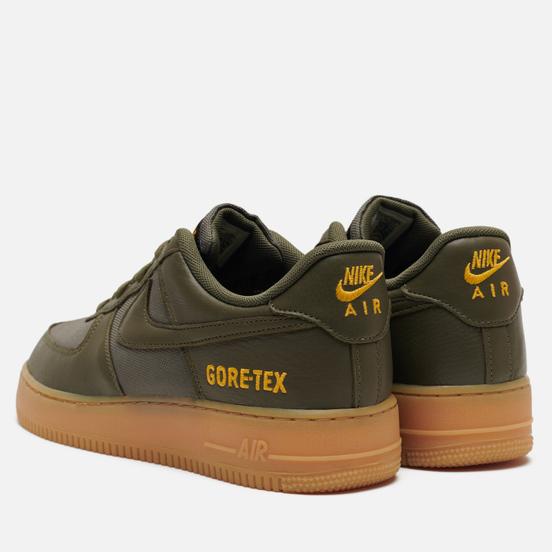 Мужские кроссовки Nike Air Force 1 Gore-Tex Medium Olive/Sequoia/Gold/Black