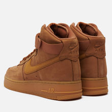 Мужские кроссовки Nike Air Force 1 High 07 WB Flax/Wheat/Gum Light Brown/Black фото- 0