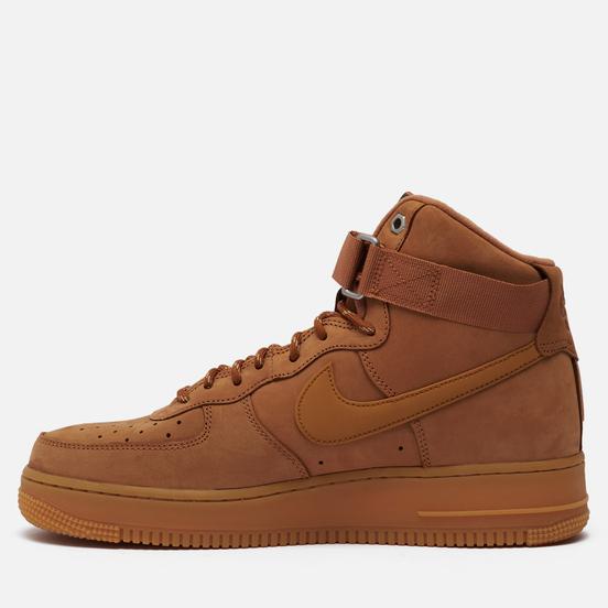Мужские кроссовки Nike Air Force 1 High 07 WB Flax/Wheat/Gum Light Brown/Black