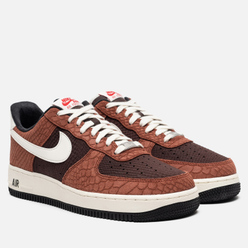 Мужские кроссовки Nike Air Force 1 Low PRM Snakeskin Red Bark/Sail/Earth/University Red
