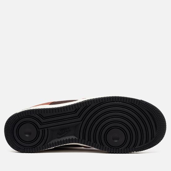 Мужские кроссовки Nike Air Force 1 Low PRM Snakeskin Red Bark/Sail/Earth/University Red
