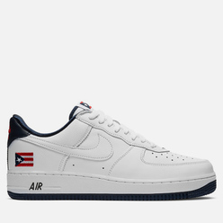 Мужские кроссовки Nike Air Force 1 Low Retro QS Puerto Rico True White/True White/Obsidian/Comet Red