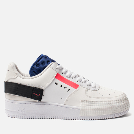 Мужские кроссовки Nike Air Force 1 Low Type Summit White/Red Orbit/White/Black