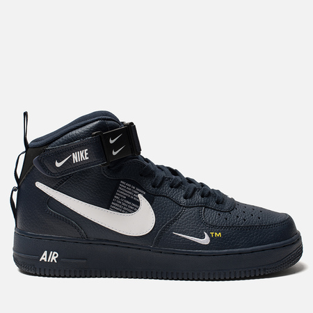 Мужские кроссовки Nike Air Force 1 Mid '07 LV8 Obsidian/White/Black/Tour Yellow