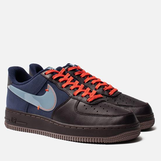 Мужские кроссовки Nike Air Force 1 Premium Burgundy Ash/Celestine Blue