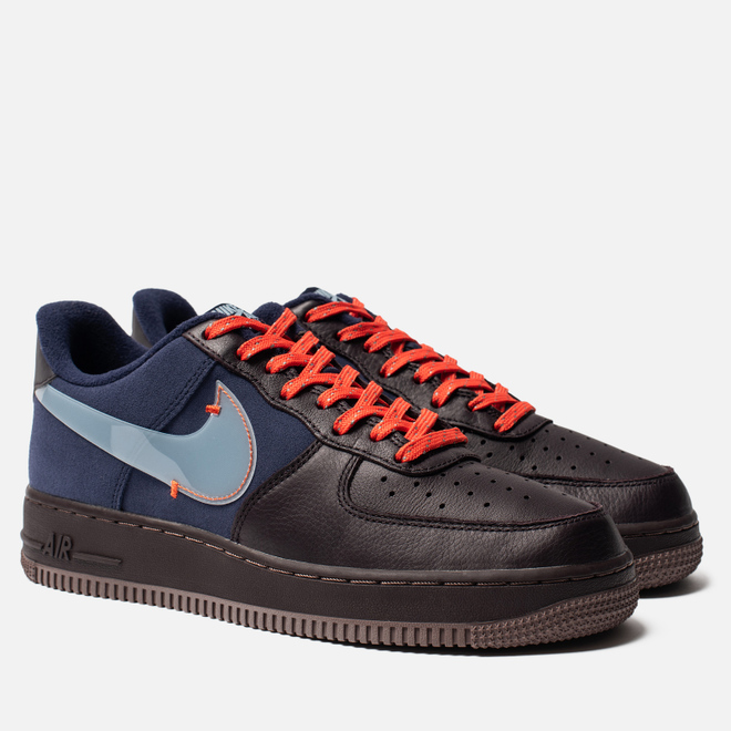 Мужские кроссовки Nike Air Force 1 Premium Burgundy Ash/Celestine Blue