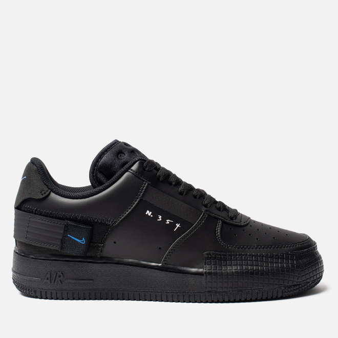 Мужские кроссовки Nike Air Force 1 Type Black/Photo Blue/Platinum Tint