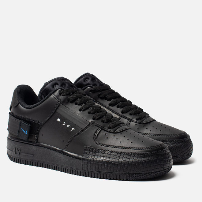 Кроссовки Nike Air Force 1 Type Black/Photo Blue/Platinum Tint