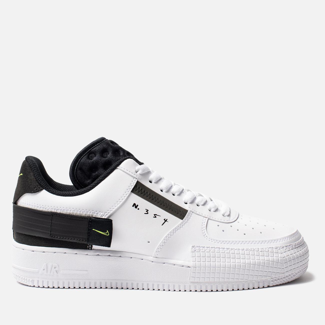 Кроссовки Nike Air Force 1 Type White/Volt/Black/White