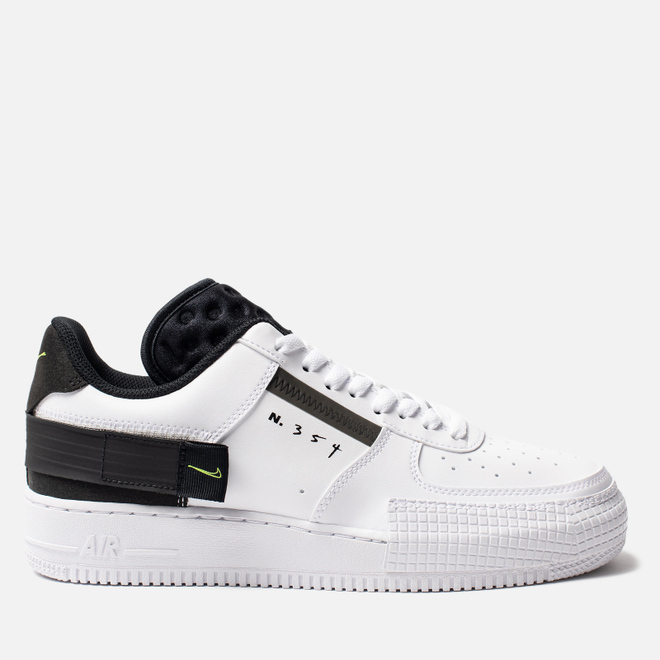 Мужские кроссовки Nike Air Force 1 Type White/Volt/Black/White