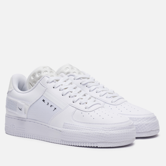 Мужские кроссовки Nike Air Force 1 Type White/White/White