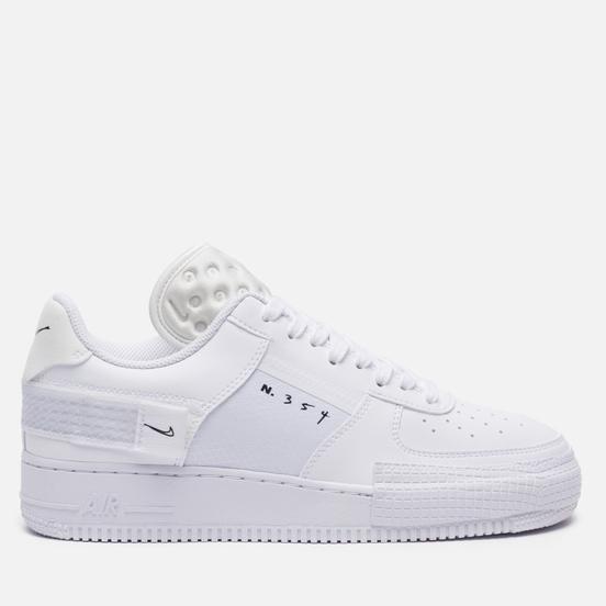 Мужские кроссовки Nike Air Force 1 Type White/White/White