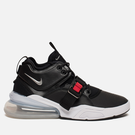 Мужские кроссовки Nike Air Force 270 Black/Metallic Silver/White