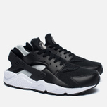 Nike Air Huarache Men's Sneakers Black/White/Silver photo- 2
