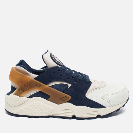 Мужские кроссовки Nike Air Huarache Run Premium Sail/Midnight Navy/Ale Brown