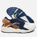 Мужские кроссовки Nike Air Huarache Run Premium Sail/Midnight Navy/Ale Brown фото- 2