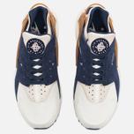 Nike Air Huarache Run Premium Men's Sneakers Sail/Midnight Navy/Ale Brown photo- 4