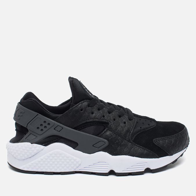 Мужские кроссовки Nike Air Huarache Run PRM Black/Dark Grey/White