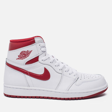 Мужские кроссовки Jordan Air Jordan 1 Retro High OG White/Metallic Red/White