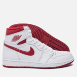 Мужские кроссовки Jordan Air Jordan 1 Retro High OG White/Metallic Red/White фото- 1
