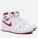 Мужские кроссовки Jordan Air Jordan 1 Retro High OG White/Metallic Red/White фото- 2