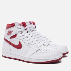 Мужские кроссовки Jordan Air Jordan 1 Retro High OG White/Metallic Red/White
