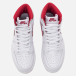 Мужские кроссовки Jordan Air Jordan 1 Retro High OG White/Metallic Red/White фото- 4
