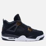 Мужские кроссовки Jordan Air Jordan 4 Royalty Black/Black/Metallic Gold/White фото- 0