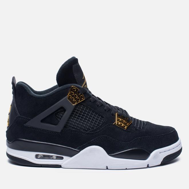 Мужские кроссовки Jordan Air Jordan 4 Royalty Black/Black/Metallic Gold/White